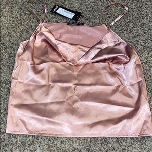 Pink Silky Top